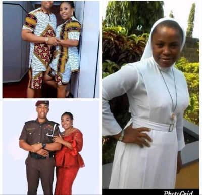 See pictures of a Reverend Sister who quit her religious duty to marry a Policeman