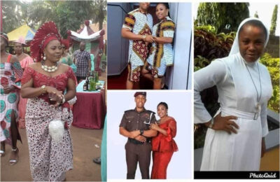 Wedding photos of the Reverend Sister who married a Policeman has emerged online