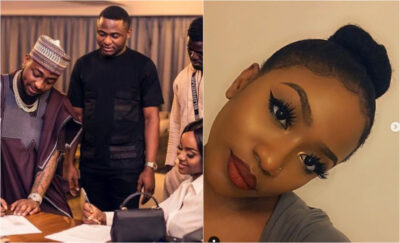 """""""Ubi please stay away""""- Davido made jest of him as Ubi frolics Chioma's Sister on her birthday"""
