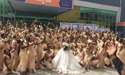 Sandra Ikeji breaks record with 200 bridesmaids (photos)