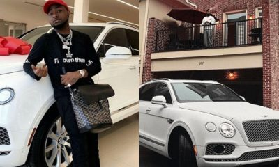 """I'll not bash you again""-Davido has apologized to his Bentley after it spents months in Mechanic"
