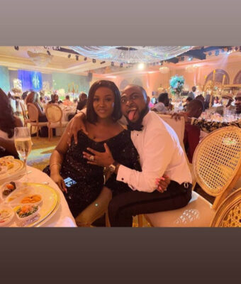 Davido grabs Chioma's Breast at Adewale Adeleke's wedding in Dubai
