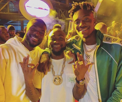 Davido hangs out with Chelsea players, Tammy Abraham and Fikayo Tomori in Dubai