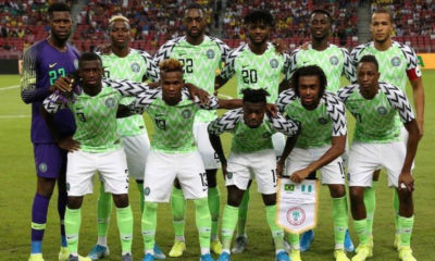 Super Eagles of Nigeria remains 31st in the recent FIFA ranking