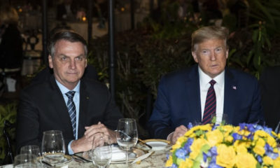 Brazilian president is infected with Coronavirus 6 days after he dined with President Trump
