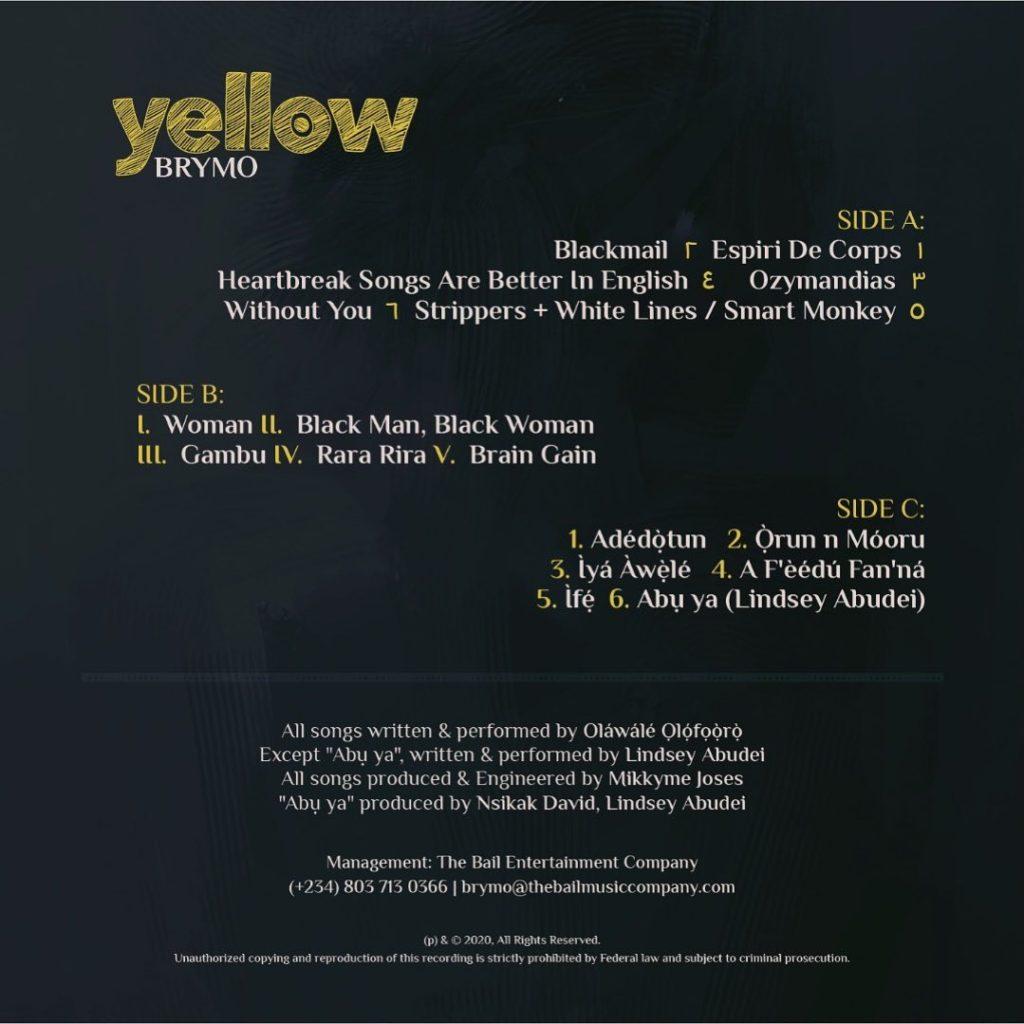 Yellow Tracklist