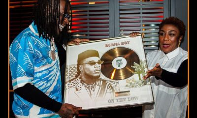 "Burna Boy receives a plaque as ""On the Low"" hits 15 million streams in France"