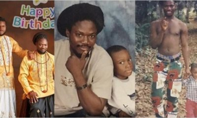 Daddy Showkey celebrates eldest son, Raymond as he turns 23