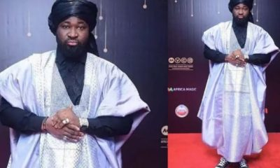 Broke poor idiots – Harrysong slams his fans trolling him for his AMVCA outfit