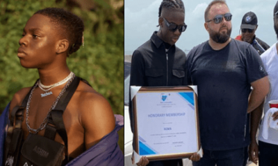 "BMW awards Rema for his single, ""Beamer"" which promotes the brand."