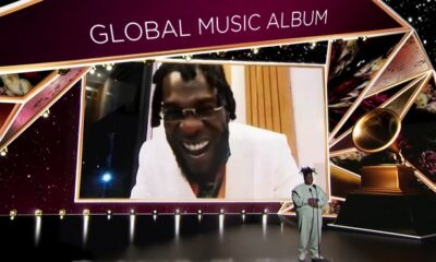 Burna Boy's wins Best Global Music Album at the 2021 Grammy Award