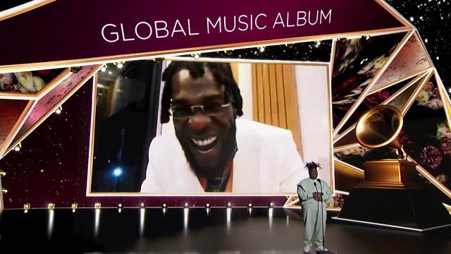 Burna Boy's wins Best Global Music Album at the 2021 Grammy Award
